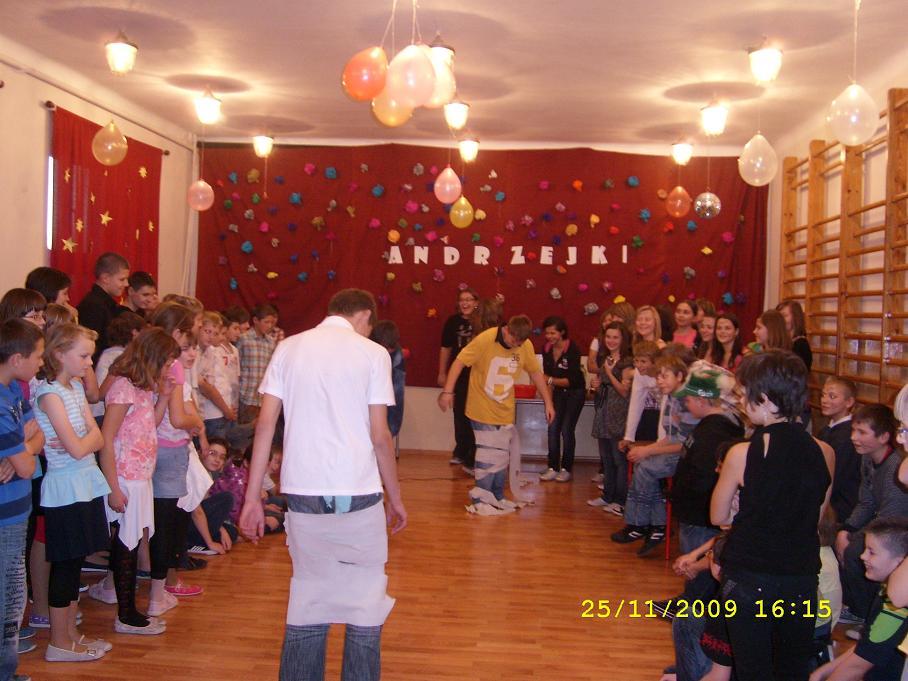 . Andrzejki i kocenie 1 klasy gimnazjum