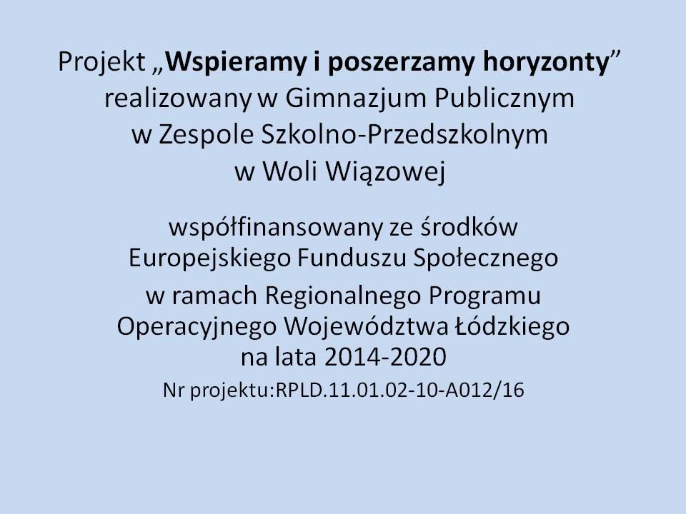 . Projekt unijny